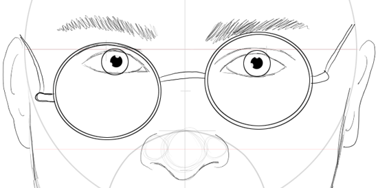Step 13 : Drawing Harry Potter & Daniel Radcliffe with Easy Steps Tutorial
