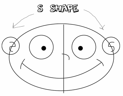 Step 1 : Drawing Angelica Pickles in Easy Steps Tutorial for Kids