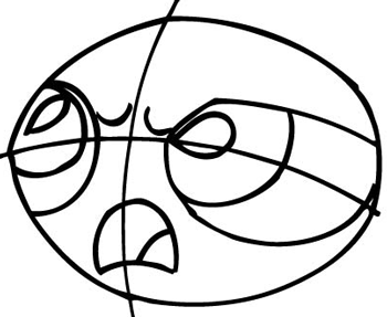 Step 4 : Drawing Buttercup from The Powerpuff Girls Tutorial