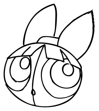 Step 6 : Drawing Blossom from Powerpuff Girls Tutorial
