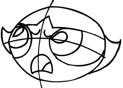 Step 6 : Drawing Buttercup from The Powerpuff Girls Tutorial