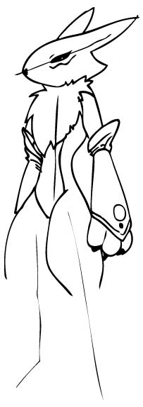 Step 8 Drawing Renamon from Digimon in Steps Drawing Lesson