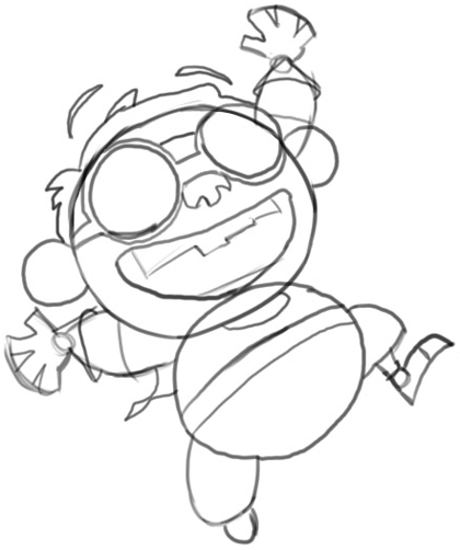 Step 5 : Drawing Chum Chum Step by Step Drawing Lesson