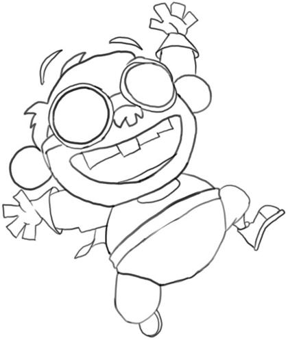 Step 6 : Drawing Chum Chum Step by Step Drawing Lesson