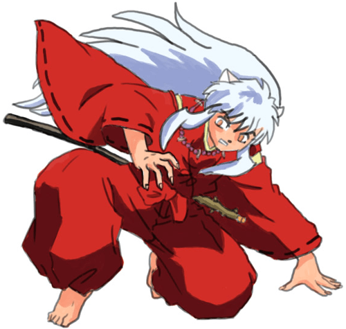 Step 10 : Drawing Inuyasha with Easy Step by Step Instructions