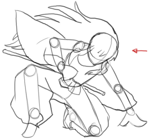 Step 5 : Drawing Inuyasha with Easy Step by Step Instructions