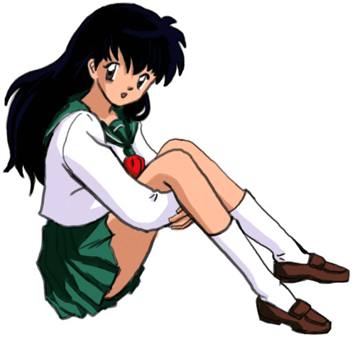 Step 10 How to Draw Kagome Higurashi from Inuyasha Anime Lesson