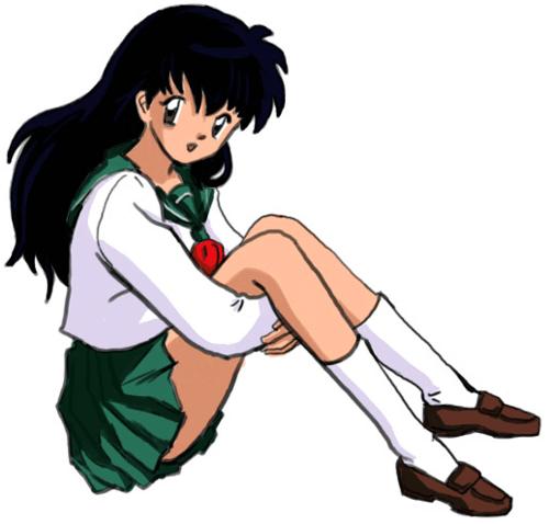 Step 10 How to Draw Kagome Higurashi from Inuyasha Anime Lesson