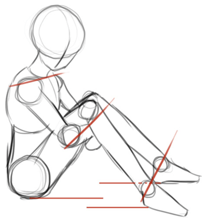 Anime sitting position