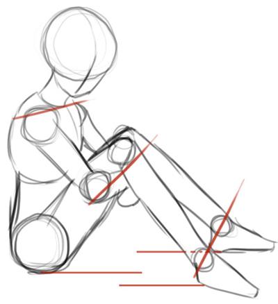 Step 3 How to Draw Kagome Higurashi from Inuyasha Anime Lesson