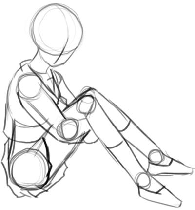 Step 4 How to Draw Kagome Higurashi from Inuyasha Anime Lesson
