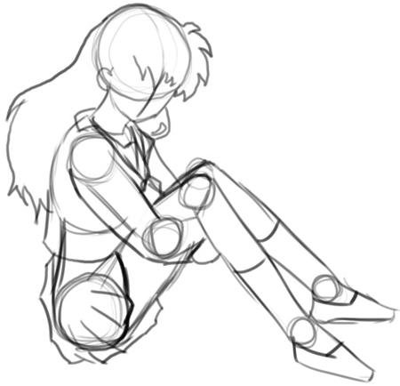 Step 5 How to Draw Kagome Higurashi from Inuyasha Anime Lesson