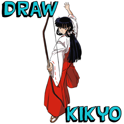 How to Draw Kikyo aka Kikyou from Inuyasha with Easy Steps Manga Tutorial