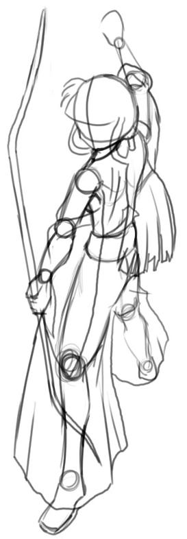 Step 5 How to Drawing Kikyo aka Kikyou from Inuyasha Drawing Lessons