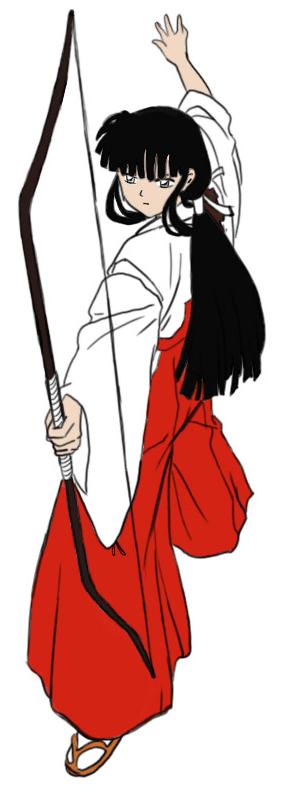 Step 8 How to Drawing Kikyo aka Kikyou from Inuyasha Drawing Lessons
