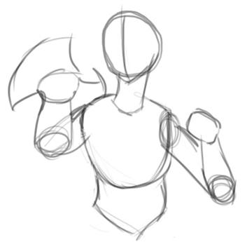 Step 2 : Drawing Miroku from Inuyasha with Manga Anime Lesson