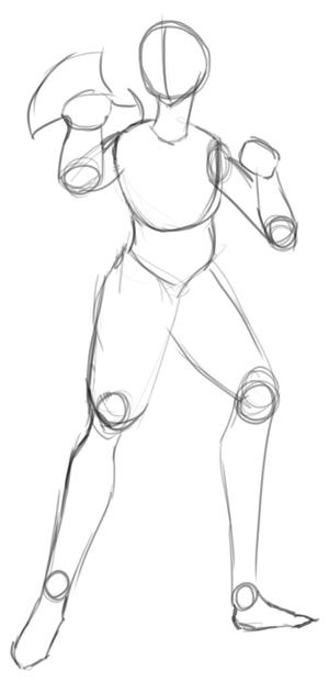 Step 3 : Drawing Miroku from Inuyasha with Manga Anime Lesson