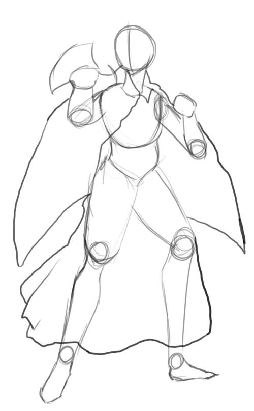 Step 4 : Drawing Miroku from Inuyasha with Manga Anime Lesson