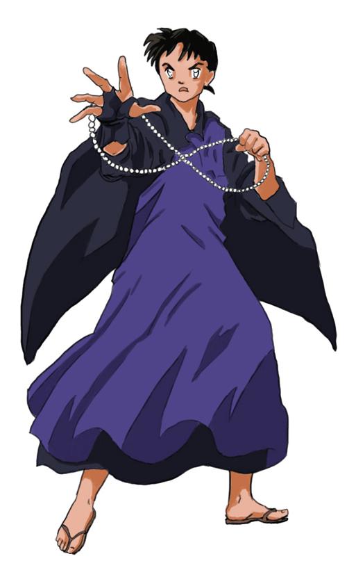 Step 9 : Drawing Miroku from Inuyasha with Manga Anime Lesson
