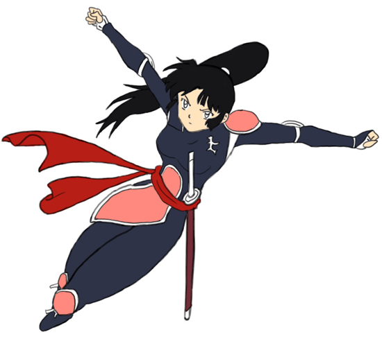 Step 8 : Drawing Sango from Inuyasha with Easy Step by Step Tutorial