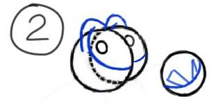 Step 2 : Drawing Mushu from Disneys Mulan Step by Step Tutorial