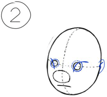 Step 2 : Drawing Lilo Easy Steps Drawing Tutorial for Kids