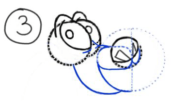 Step 3 : Drawing Mushu from Disneys Mulan Step by Step Tutorial
