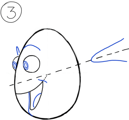 Step 3 : Drawing Dory from Disney Pixars Finding Nemo step by step