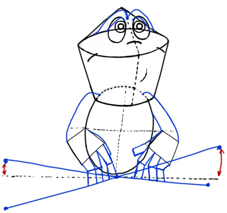 Step 4 : Drawing Cartoon Frogs & Toads in Easy Steps Tutorial