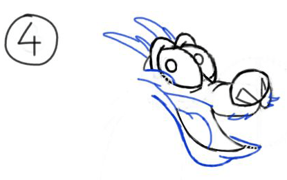 Step 4 : Drawing Mushu from Disneys Mulan Step by Step Tutorial