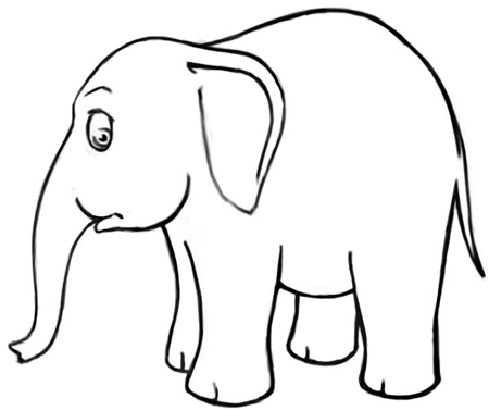 How to Draw Cartoon Elephants with Easy Steps Drawing Lesson - How ...