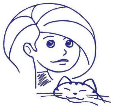 How to Draw Cartoon Girl Holding a Kitty Cat Step by Step Drawing Lesson