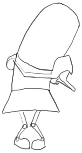 Step 3 : Drawing Yo From Fanboy and Chum Chum Easy Steps Tutorial