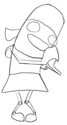 Step 4 : Drawing Yo From Fanboy and Chum Chum Easy Steps Tutorial