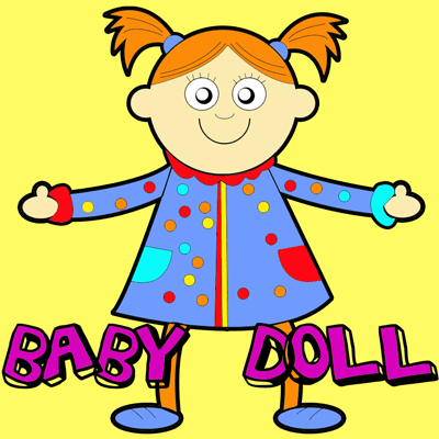 How to Draw Baby Dolls with Easy Step by Step Drawing Tutorial