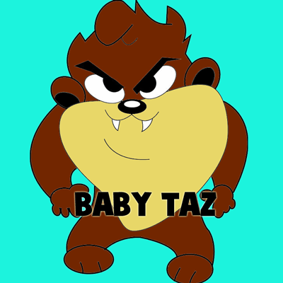 How to Draw Baby Tazmanian Devil from Looney Tunes Step by Step Drawing Tutorial