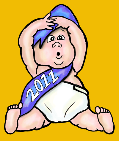 How to Draw Baby New Year with Easy Step by Step Drawing Tutorial
