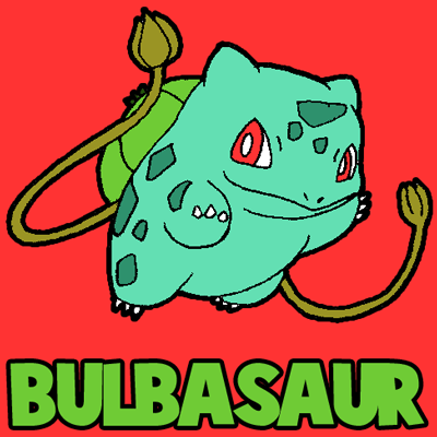 How to Draw Bulbasaur from Pokemon Step by Step Drawing Lesson for Kids