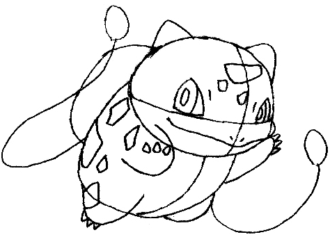 Step 7 : Drawing Bulbasaur from Pokemon in Steps