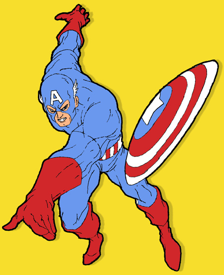 How to Draw Captain America from Marvel Comics with Drawing Lesson