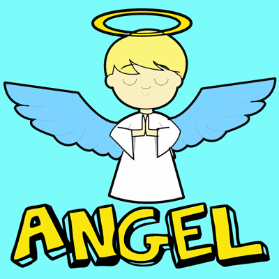 How to Draw Cartoon Angels in Easy Step by Step Drawing Tutorial