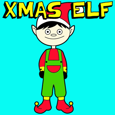 How to Draw a Christmas Elf with Step by Step Elves Drawing Tutorial