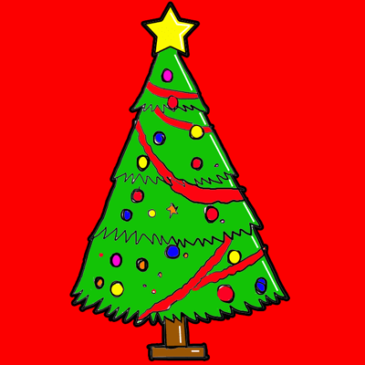 How to Draw Christmas trees Step by Step Drawing tutorial for Kids