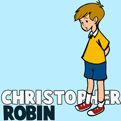 How to Draw Christopher Robin from Winnie the Pooh Step by Step Drawing Lesson