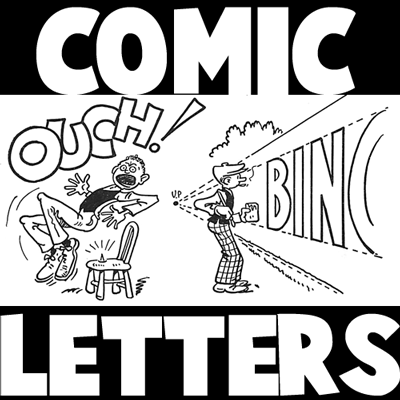 drawing comic strip letters and fonts