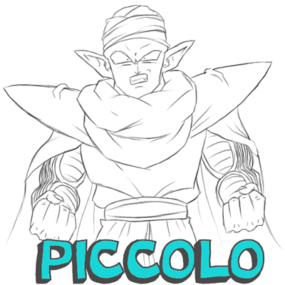 How to Draw Piccolo from Dragon Ball Z with Easy Step by Step Drawing Tutorial