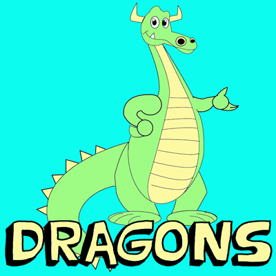 How to Draw Cute Cartoon Dragons With Easy Step by Step Drawing Tutorial