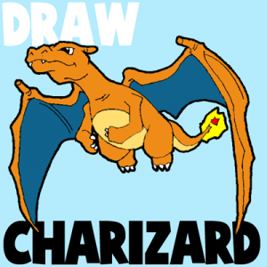 How to Draw Charizard from Pokemon with Step by Step Drawing Tutorial
