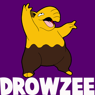 How to Draw Drowzee from Pokemon with Easy Step by Step Drawing Lesson