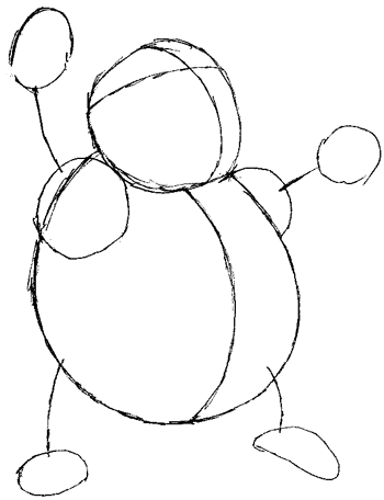Step 4 : Drawing Drowzee from Pokemon in Easy Steps Tutorial for Kids